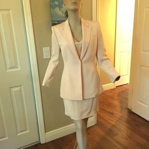 Richard Tyler Couture Silk Suit Blazer Skirt 4